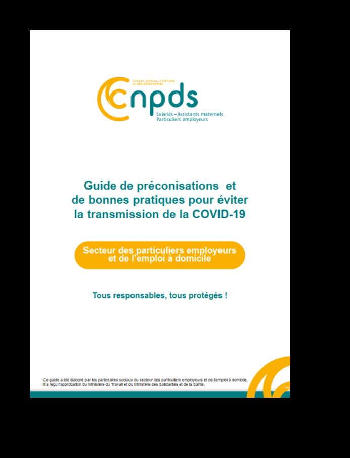 Particuliers-Employeurs : Covid19 - un Guide de préconisations et de bonnes pratiques